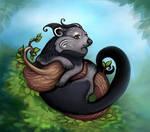 Binturong, the Bear-Cat by Yullapa