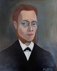 Selfportrait with glasses and sideburns