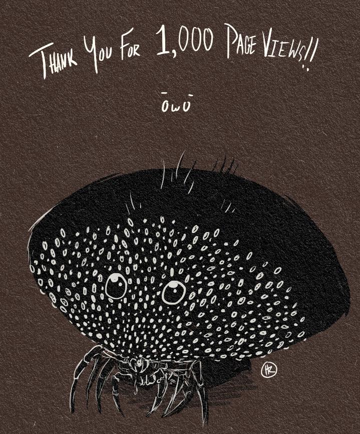 1,000 Page Views!