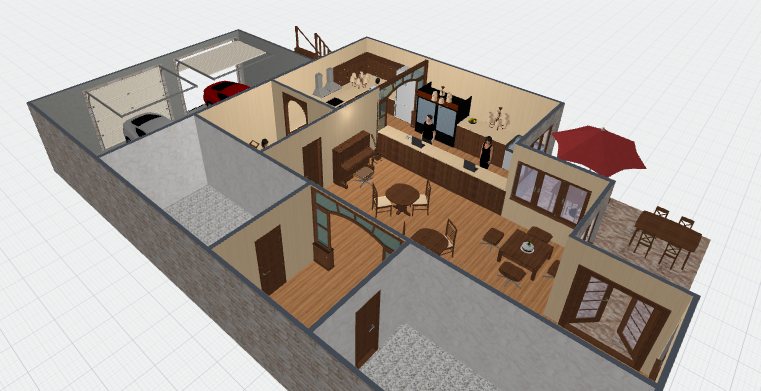 Survey Cafe Cafe House Layout 3d Floor 1 By Gwineviere On