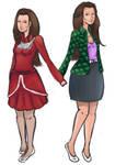 RQ: Zoe and Lucy (WIP) by xflyingsora