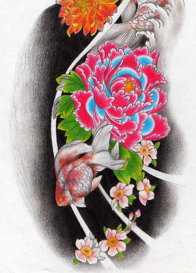Japanese tattoo sketch 2 wip by liliana08 on deviantart for Japanese tattoo art