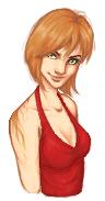 Lora Farro Pixel Portrait by Appledore