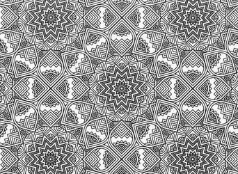 Mandala Flowers 02 Blank Template by Shuey