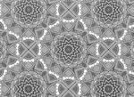 Mandala Flowers 02 Blank Template