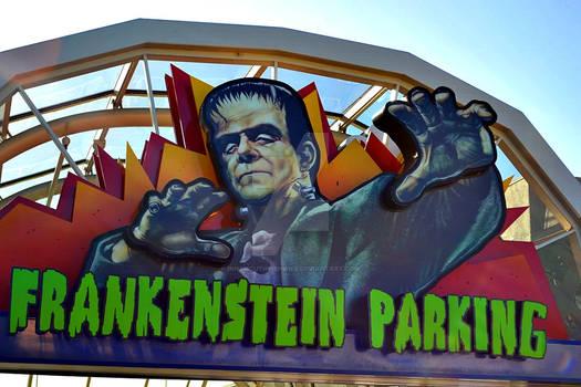 Frankenstein Parking Sign