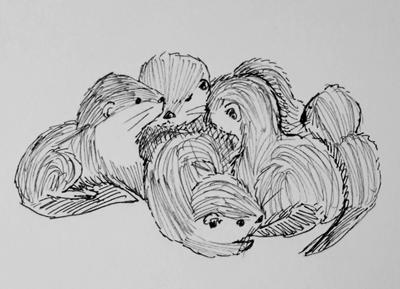 Otter Pile by Ridingthelight