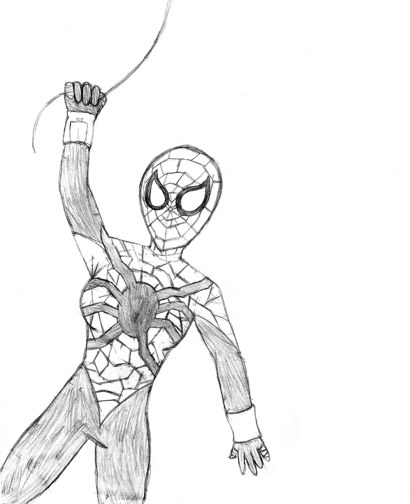 spider girl coloring pages - photo#4