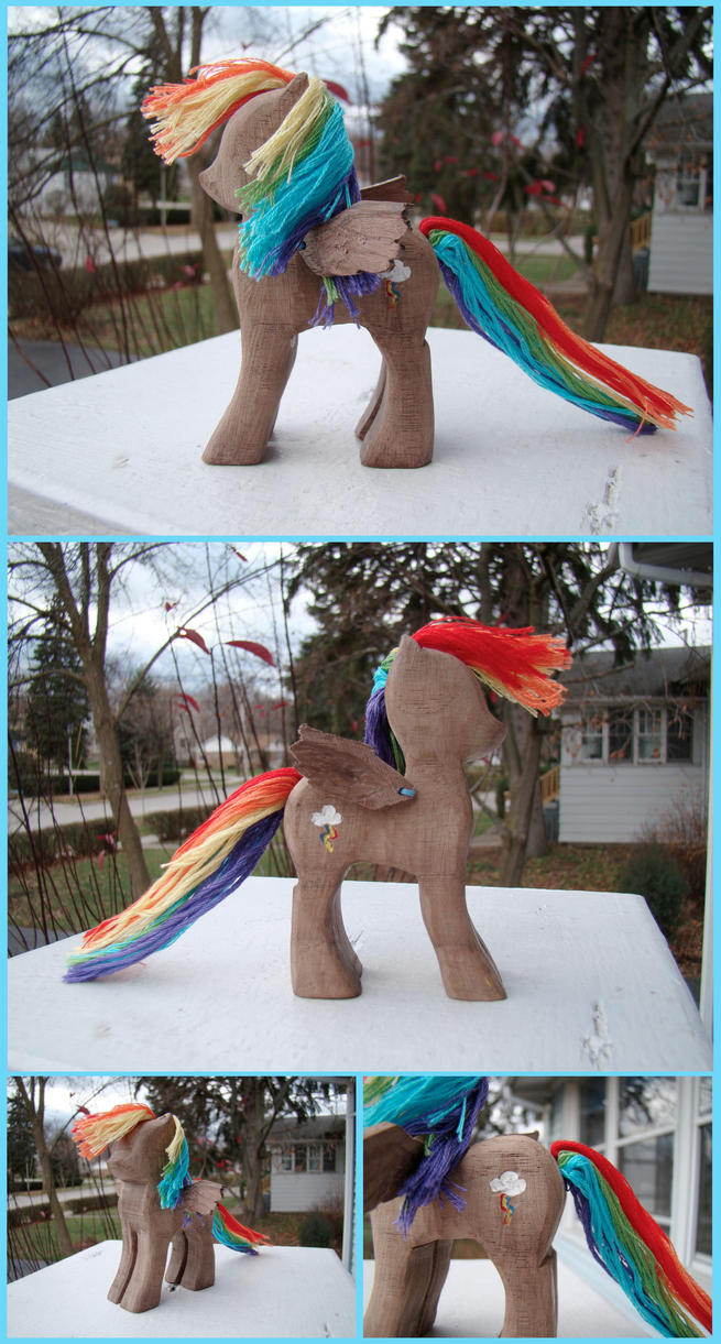 Rainbow Dash Woodwork IV by xofox