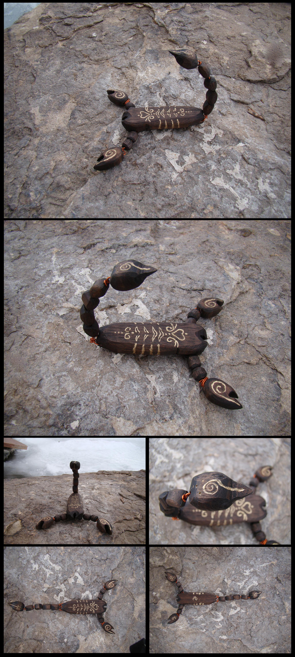 Scorpion Woodwork by xofox