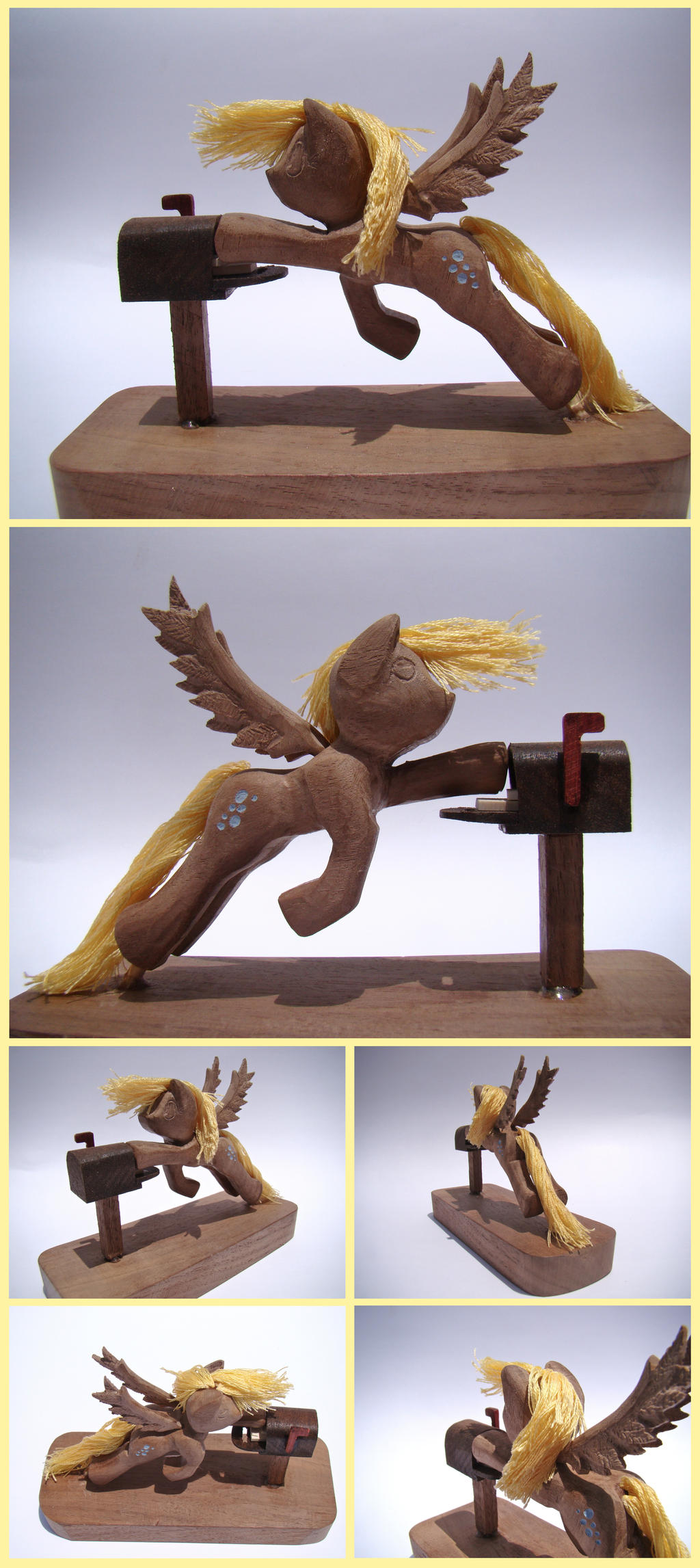 Derpy Hooves Woodwork: Post Haste by xofox