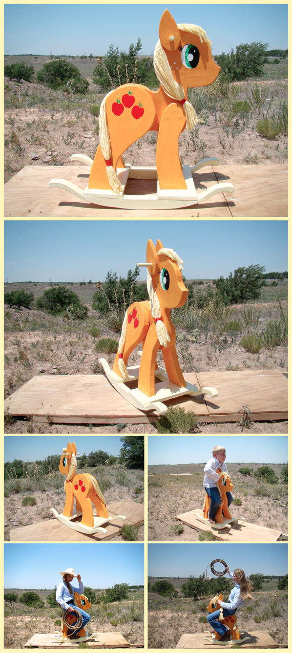 Applejack Charity Rocking Horse by xofox