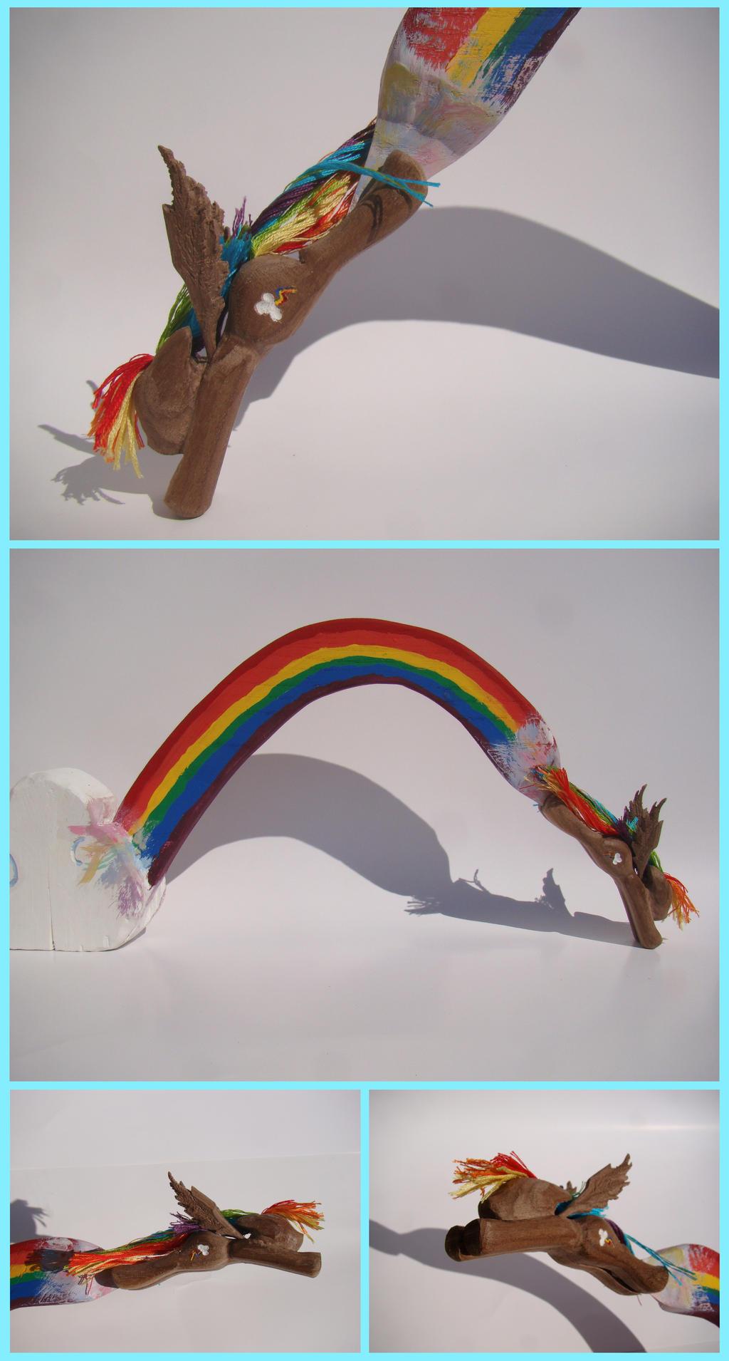Rainbow Dash Woodwork: Rainboom Flight by xofox