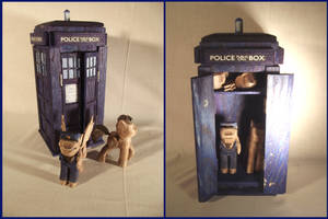 TARDIS and Travelers Woodwork Set by xofox