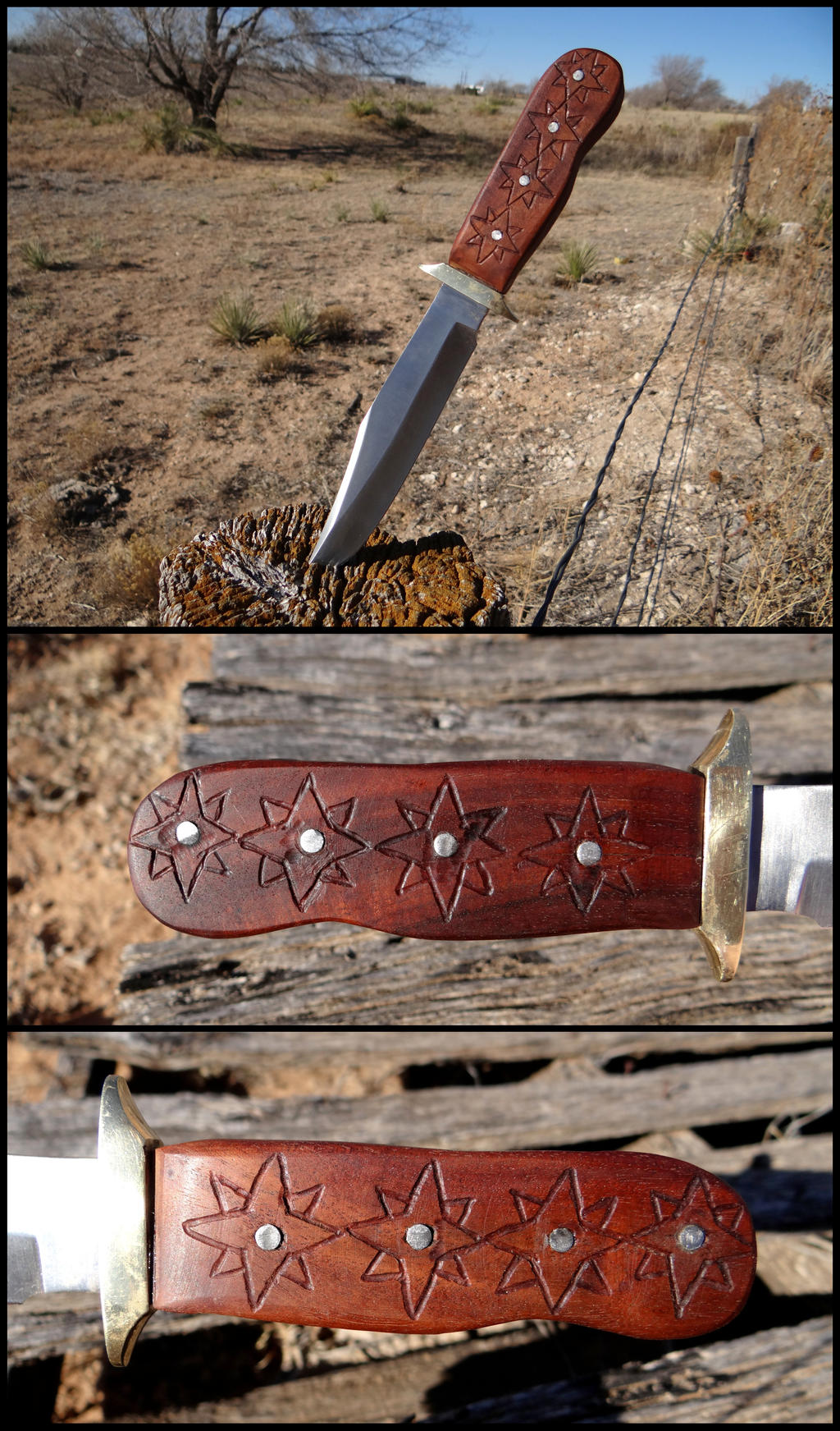 Milo Handled Bowie Knife by xofox