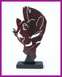 Tempest Shadow Silhouette Woodwork by xofox