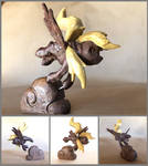 Derpy Hooves Figurine in Walnut and Yellowheart