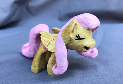 Fluttershy Yay Woodwork in Yellowheart