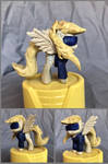 Superhero Derpy Woodwork in Maple and Yellowheart by xofox