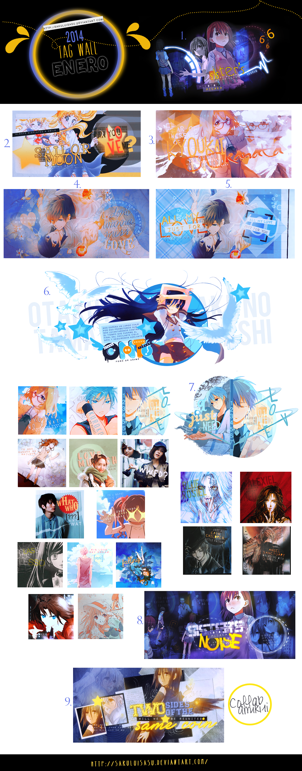 Tag Wall 01-2014 by sakuluisasu