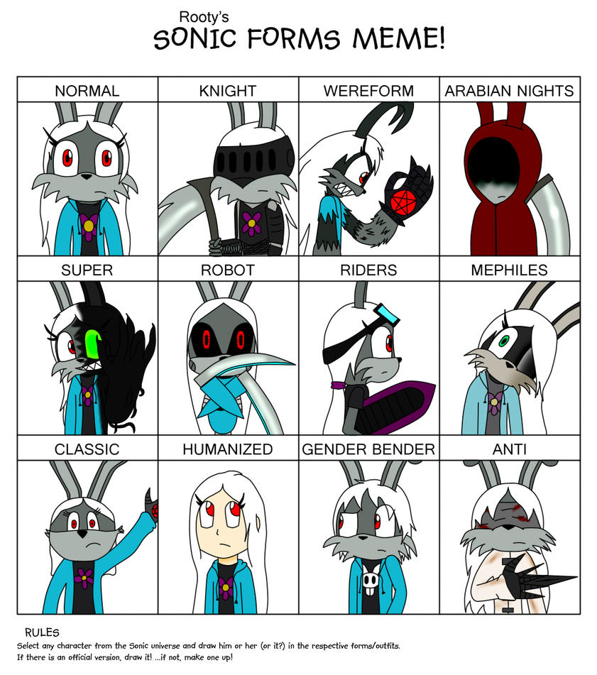 Sonic Forms: Sonic Forms Meme: Mixtri By KoRnRULE23 On DeviantART