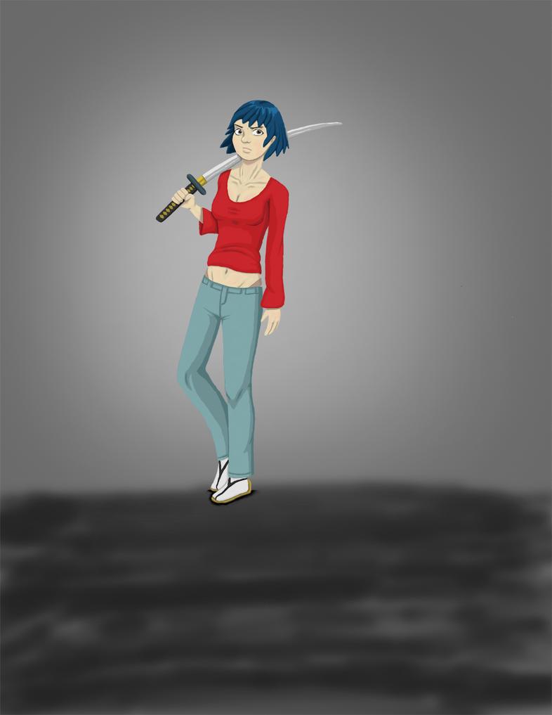 Katana Girl 2 by patob215
