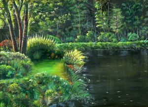 Greenie - acrylic painting