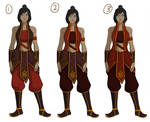 [Avatar] Fire nation Korra concepts