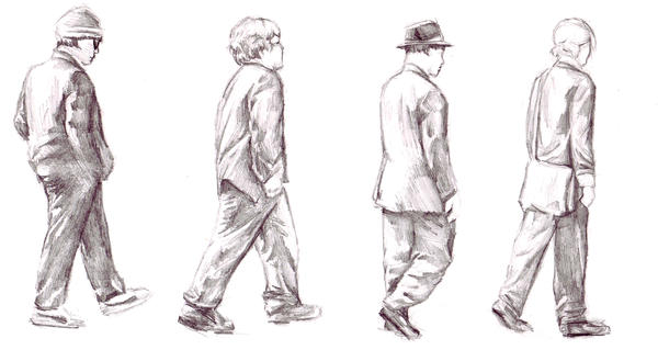 walking sketch by Spiderwriter on DeviantArt