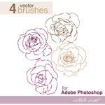 Roses brushes for Adobe Photoshop