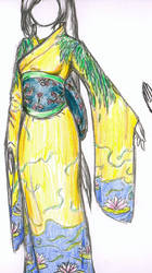 Yellow kimono design by Faily-chan
