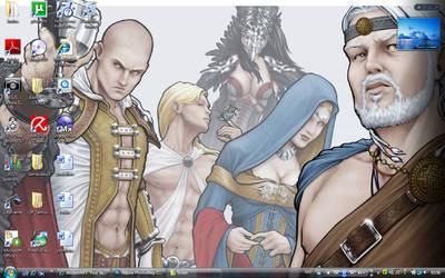 My desktop by Faily-chan