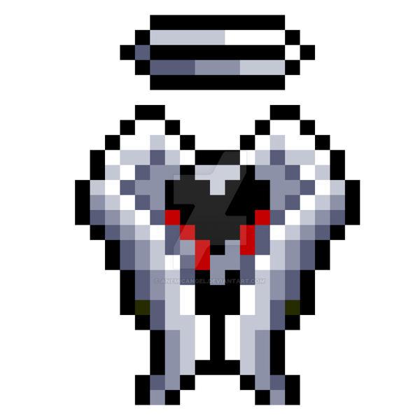 Pixel Anemic Wings Logo By Anemicangel On Deviantart