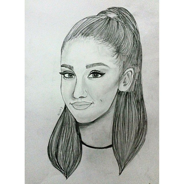 Ariana Grande Pencil Sketch By Rocksstar10 On DeviantArt