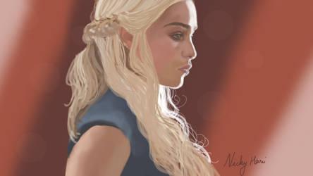 Khaleesi (Daenerys Targaryen) Digital art fan art by rocksstar10
