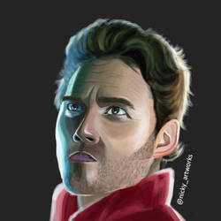 Chris Pratt Star Lord Digital Painting by rocksstar10