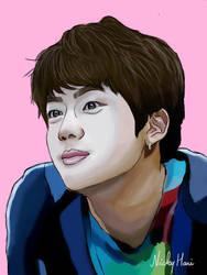 BTS Jin Digital Painting Fanart by rocksstar10
