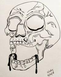 Drooling skull by rocksstar10