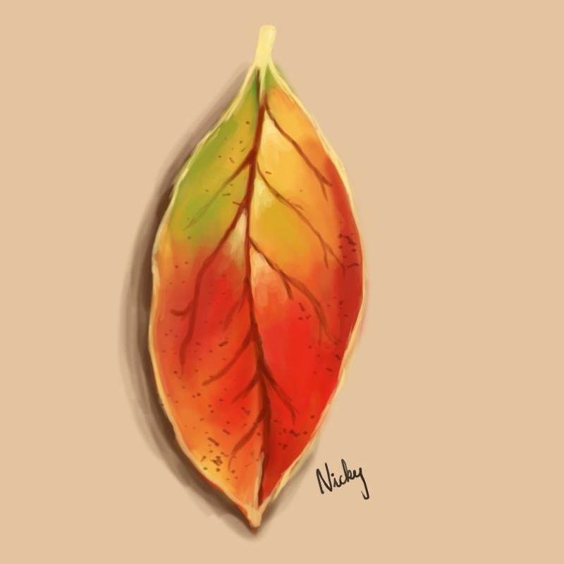 Autumn leaf digital art by rocksstar10