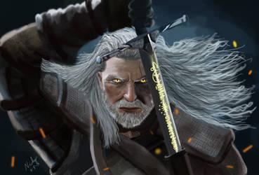 Geralt of Rivia - Digital Painting Photoshop