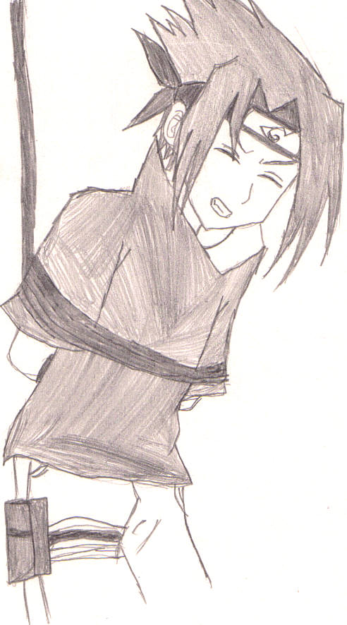 Sasuke tied up. by Uchiha00006