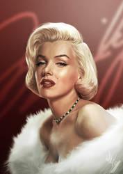 Marilyn's Portrait by gastonzubeldia