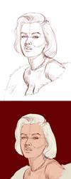 Marilyn's Portrait Process by gastonzubeldia