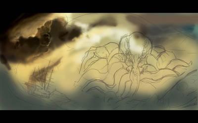 Cthulhu's Wrath WIP by gastonzubeldia
