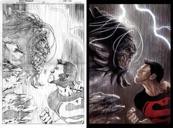 Superboy Cover by gastonzubeldia