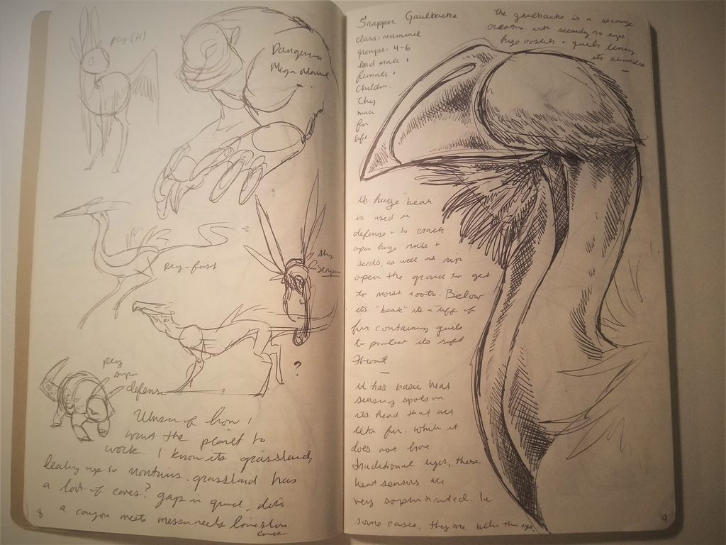 Dec-Feb 2017 Sketchbook 8-9 by Bazzyli