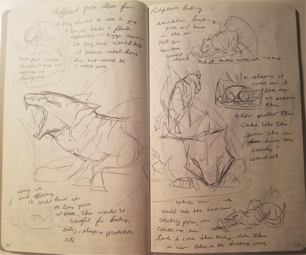 Dec-Feb 2017 Sketchbook 14 -15 by Bazzyli