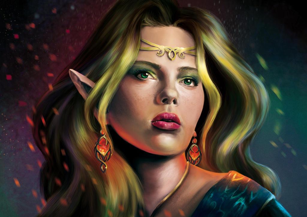 Elf Of The Stars Fan Art by evolajones