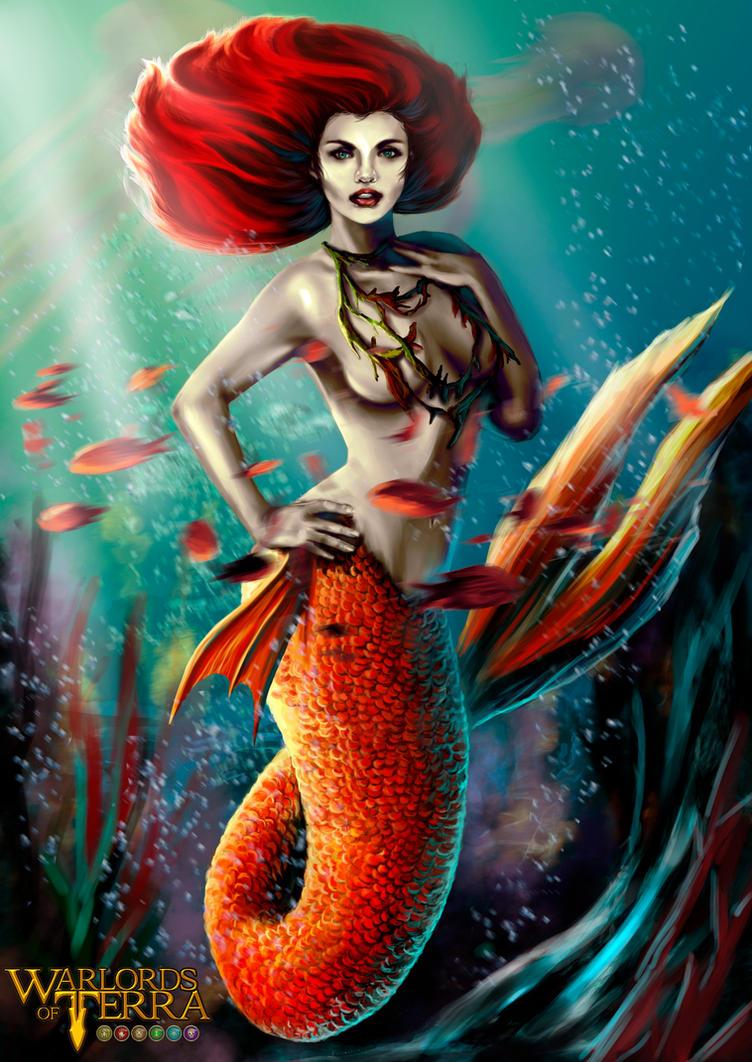 Mermaid - warlords of terra by evolajones
