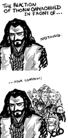 The Reaction of Thorin Oakenshield